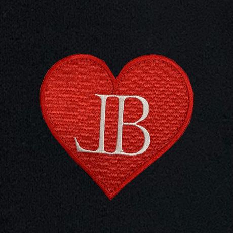 belle belle (ベルベル) BL heart Emblem トレーナー ブラック