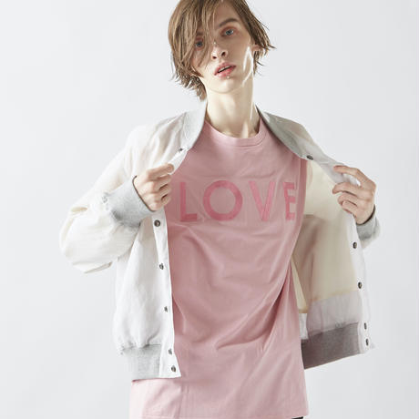 EMBROIDERY  LOVE T-SHIRTS (PINK)