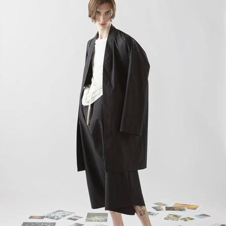 WATER PROOF HAORI COAT (BLACK)