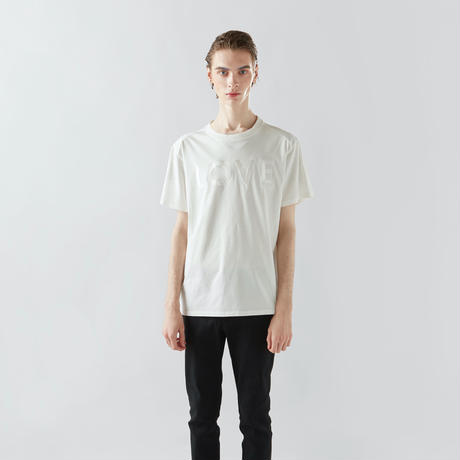 EMBROIDERY  LOVE T-SHIRTS (WHITE)