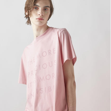 INVISIBLE TYPO T-SHIRTS (PINK)