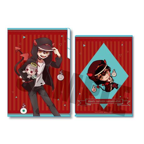 クリアファイル3ポケット 地縛少年花子くん 小悪魔パーカーver./花子くん(天使寧々ちゃんぬいぐるみ)