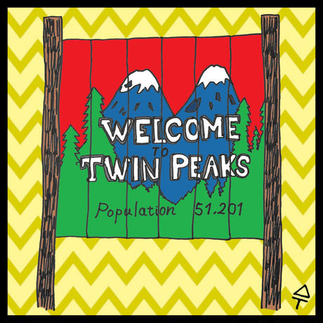 WELCOME to TWINPEAKSシール