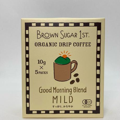 BS1ST.オーガニックドリップコーヒー Good Morning Blend -MILD-50g(10g×5袋)
