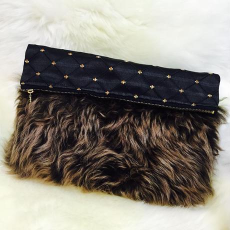 Gradation Fur Clutch Bag / BLK(グラデーションファークラッチバッグ)送料無料商品