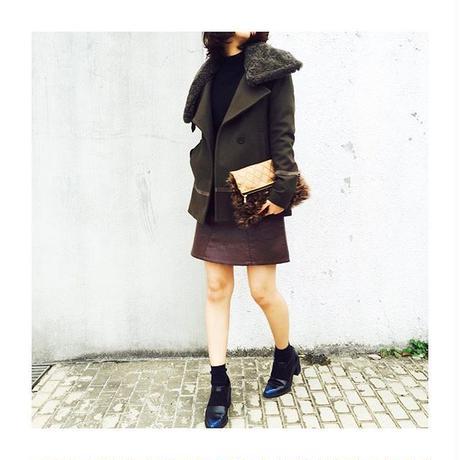 Gradation Fur Clutch Bag / GLD(グラデーションファークラッチバッグ)
