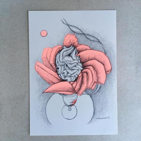 樋上公実子・フルーツパーラーゴトー パフェカード(5枚セット) リソグラフ印刷(中野活版印刷店)