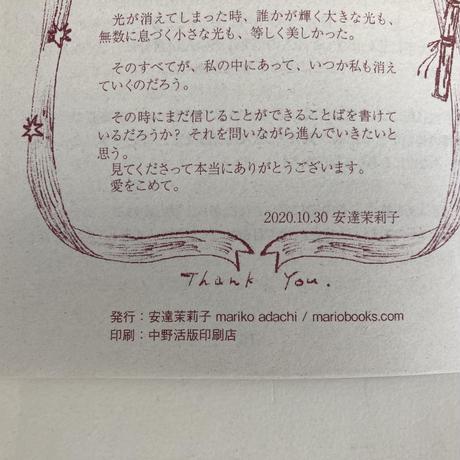 【5月21日再入荷】安達茉莉子 リトルプレス 『光について』
