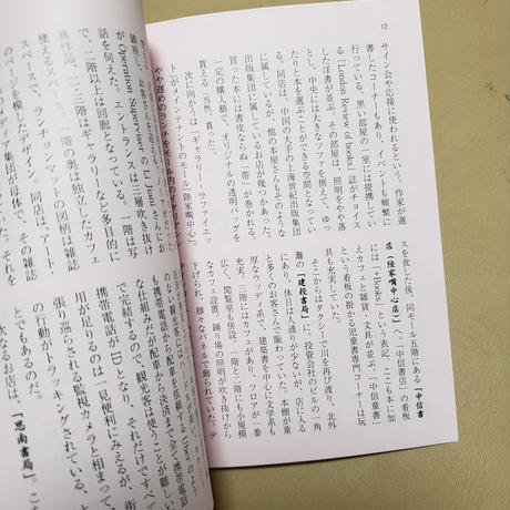 【2月20日再入荷分売切・3月26日再入荷】どむか『上海ブックショップツアー』(16ページ冊子「ツアー記」付)