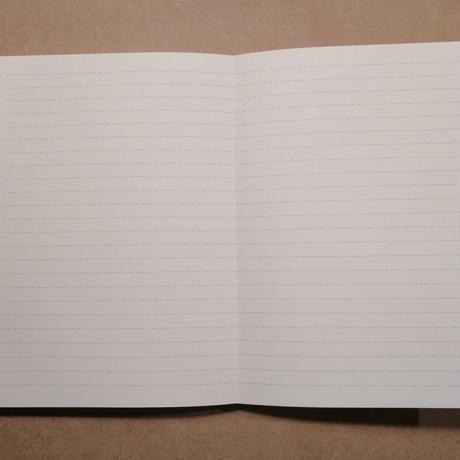 紙束『ZIGZAGBOOK』(手製本じゃばらノート)赤のクロス表紙 *ミニサイズの紙束ふりかけ(1個)付き