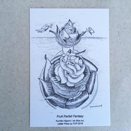 樋上公実子・フルーツパーラーゴトー パフェカード(3枚セット) 活版印刷(ファーストユニバーサルプレス)