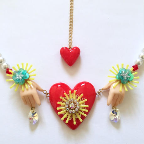 HAND & HEART PEARL ネックレス