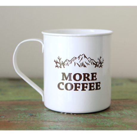 more coffee / Enamel Mug