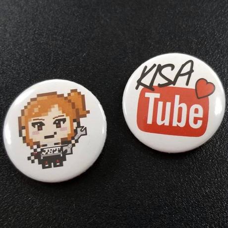 """""""KISA Tube""""缶バッチ"""