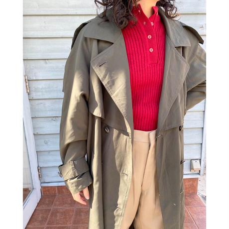 olive trench coat