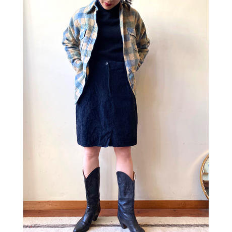 made in England black corduroy skirt