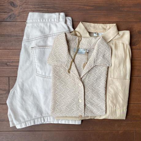 apricot beige silk  shirt