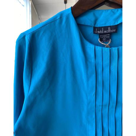 turquoise blue nocollar blouse
