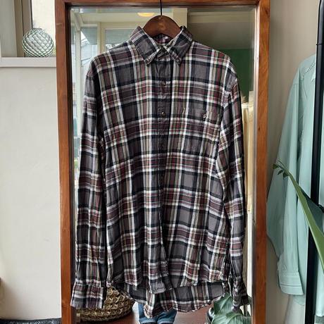 gray  check flannel shirt