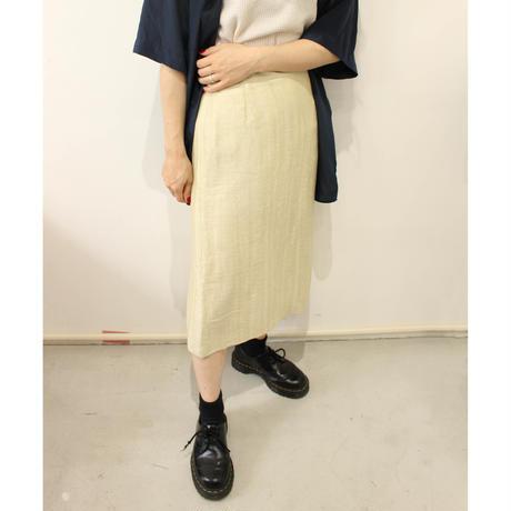 linen beige skirt