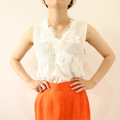 lace nosleeve tops