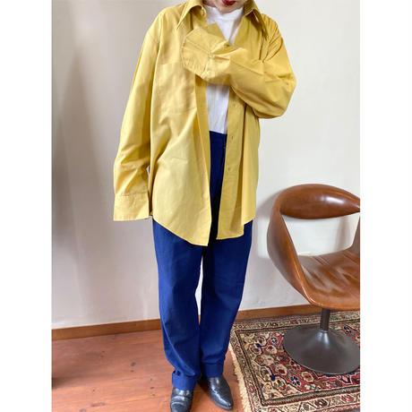 mustard color polycotton  shirt