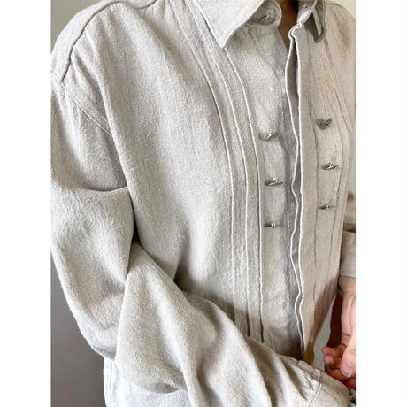linen 100% concho button tunic