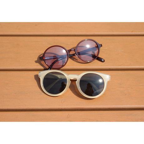 Bent sunglasses purple × clear brown