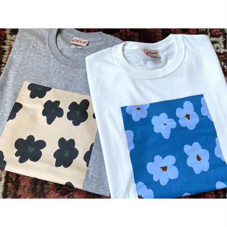 Bent flower print tee