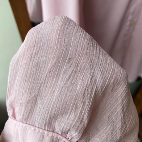 made in france sheer pink  shirt