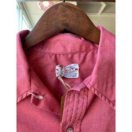 70s made in USA pink shirt
