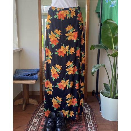 flower pattern long skirt