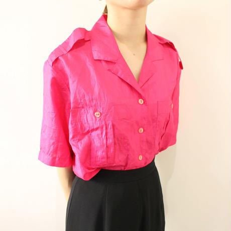 pink polyester shirt