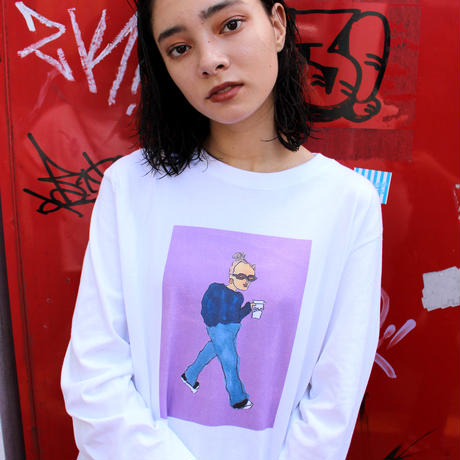 Bent fashion snap longTee A