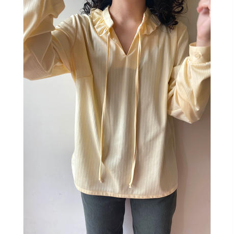 frill neck polyester tops