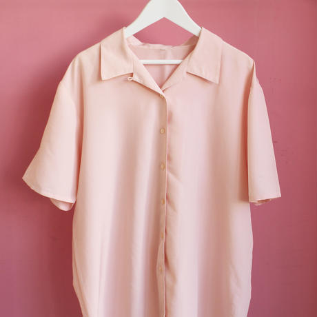 baby pink opencollar shirt