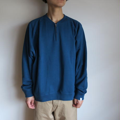 "Graphpaper MEN ""LOOPWHEELER"" for GP Half Zip Sweat BLUE"
