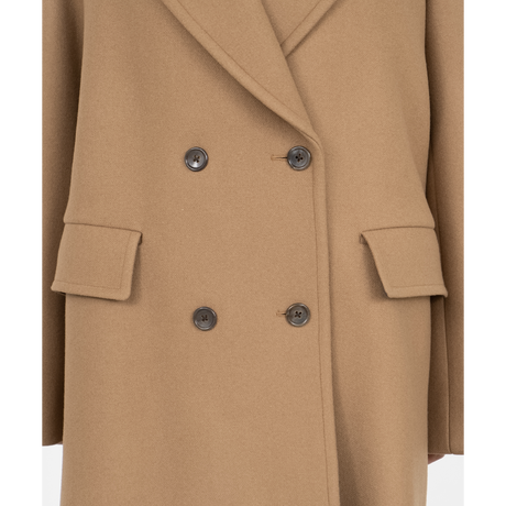 Graphpaper WOMEN Scale Off Melton Double Breasted Coat 2colors GL213-10117B