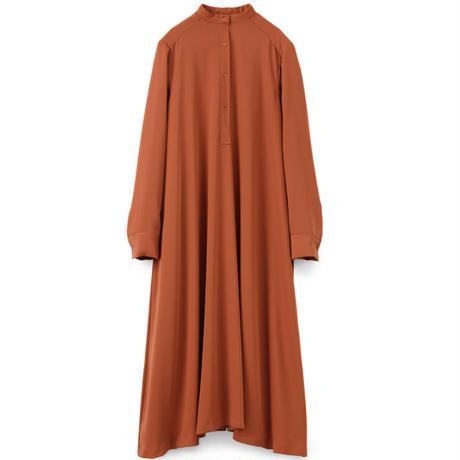 Graphpaper WOMEN Satin Band Collar Dress GL211-60125B 3colors