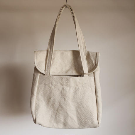 STUFF flap tote SIZE No.1 Cotton × Jute Twill  2colors