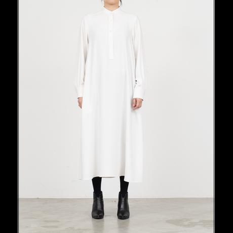 Graphpaper WOMEN Satin Band Collar Dress GL213-60125B 3colors