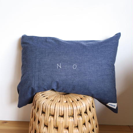 "NOWHAW ""Yes No Pillow"" DENIM"