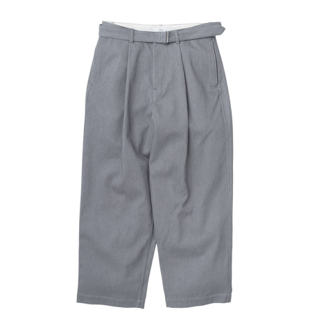 Graphpaper MEN Hard Twill Belted Pants H.GRAY