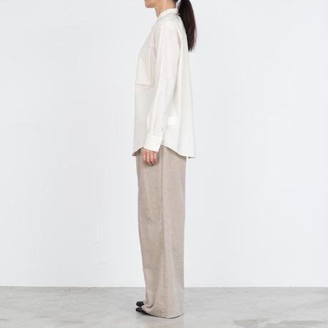 Graphpaper WOMEN Fine Wool Tropical Band Collar Shirt GL213-50031
