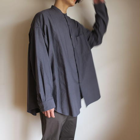 Graphpaper MEN Oxford Oversized Band Collar Shirt 3colors