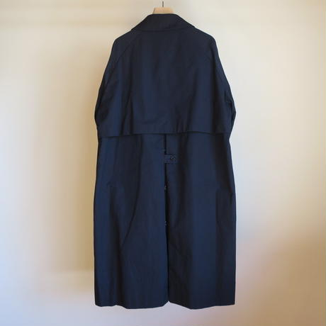 YAECA MEN SOUTIEN COLLAR COAT STANDARD NAVY 19552