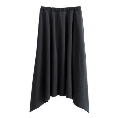 Graphpaper WOMEN Sweat Irregular hem Skirt BLACK GL191-70098