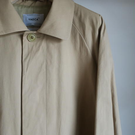YAECA MEN SOUTIEN COLLAR COAT STANDARD KHAKI 19502