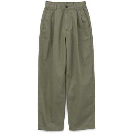 Graphpaper MEN Military Cloth 2 Tucks Pants 4colors GU193-40063B