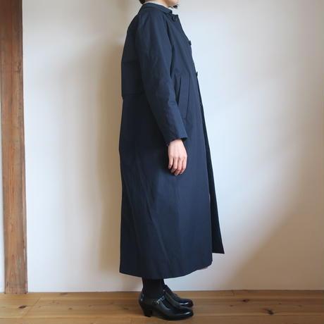 YAECA WOMEN SOUTIEN COLLAR COAT LONG NAVY 69555